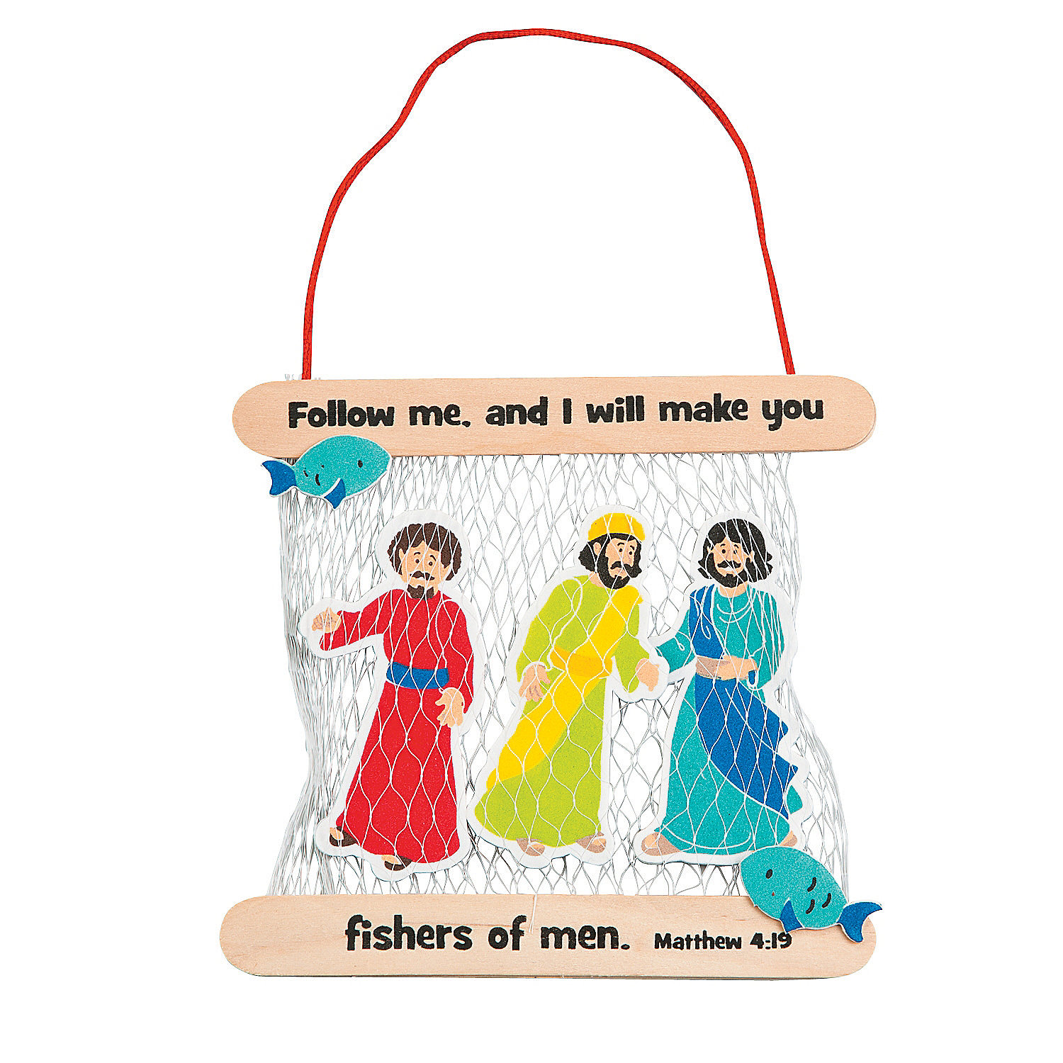 Fishers of men craft kit oriental trading for Craft projects for men