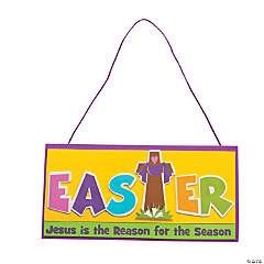 """Jesus Is the Reason For the Season"" Sign Craft Kit"