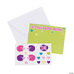 Valentine Sticker Sheet Cards
