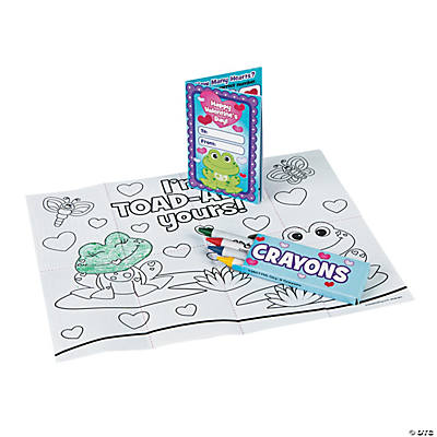 valentine coloring sheets with crayons oriental trading