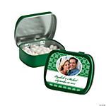Green Wedding Design Custom Photo Mint Tins