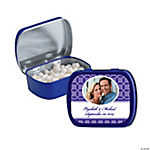 Purple Wedding Design Custom Photo Mint Tins