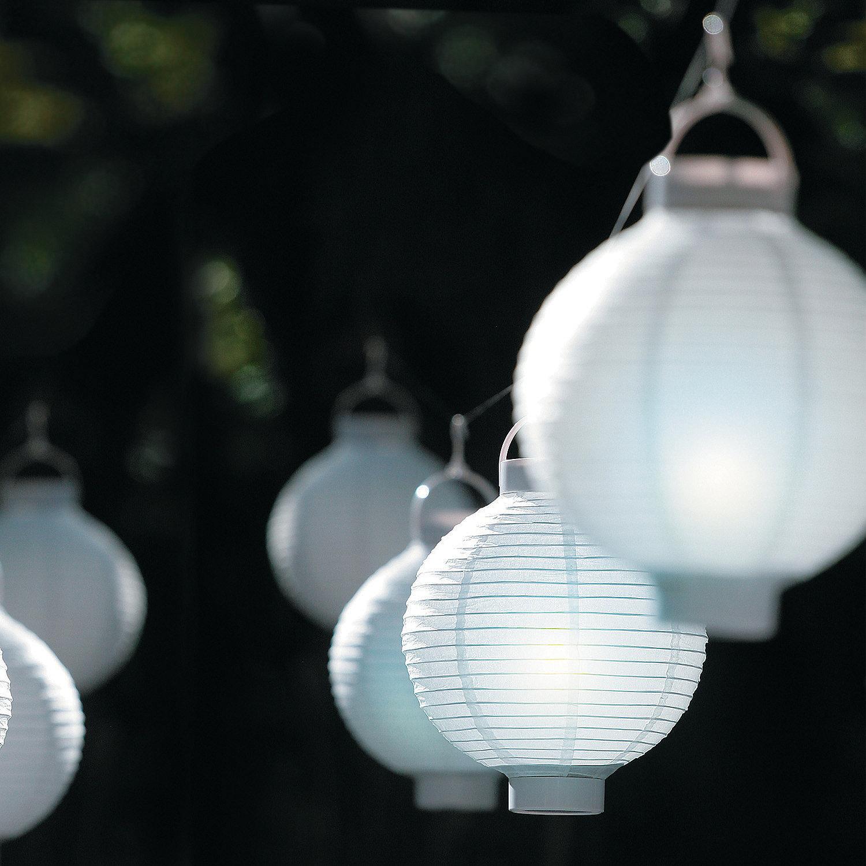 Oriental Lantern Lights White Light-up Paper Lanterns