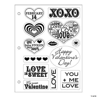Be Mine Valentine Clear Stamp Assortment