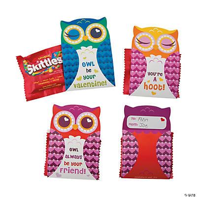 Valentine Owl Skittles® Valentine Card Kit - Oriental Trading