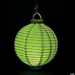 Light Green Light-Up Paper Lanterns