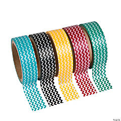 Colorful Chevron Washi Tape Set