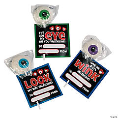 Eye on You Valentine Cards with Suckers