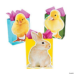 Paper Realistic Easter Cutout Bags