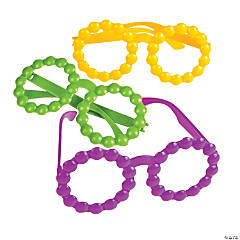 Mardi Gras Bead Glasses