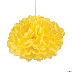 Yellow Pom-Pom Tissue Balls