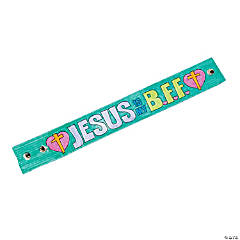 Color Your Own Imitation Leather Jesus Is My BFF Bracelets