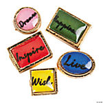Goldtone Inspirational Floating Charm Assortment