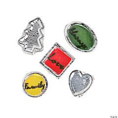 Silvertone Family Floating Charm Assortment