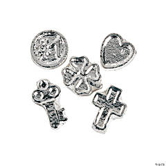 Silvertone Fun Floating Charm Assortment