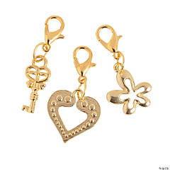 Goldtone Fun Charms