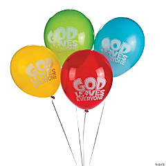 """God Loves Everyone"" Latex Balloons"