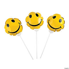 Smile Face Self-Inflating Mylar Balloons