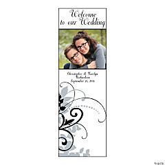 Floral Reflection Small Vertical Custom Photo Banner