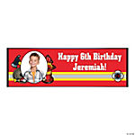 Custom Photo Medium Firefighter Party Vinyl Banner
