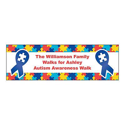 personalized medium autism awareness vinyl banner