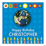 Boy's Birthday Square Custom Photo Banner