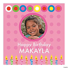 Girl's Birthday Square Custom Photo Banner