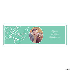 Mint Wedding Custom Photo Banner