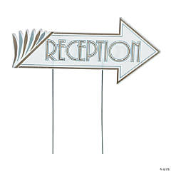 Art Deco Wedding Reception Yard Sign