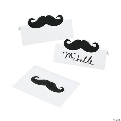 Mustache Place Cards