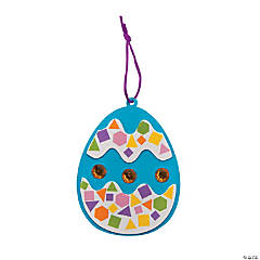Mosaic Easter Egg Ornament Craft Kit