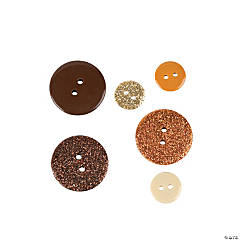 Neutral Glitter Button Assortment