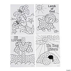 Religious Easter Dot Marker Sheets
