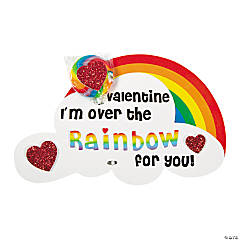 Foam Rainbow Valentine Sucker Card Craft Kit