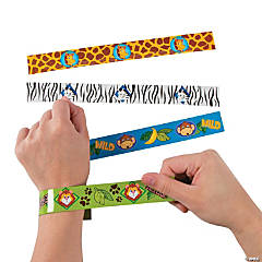 Metal Zoo Animals Slap Bracelets