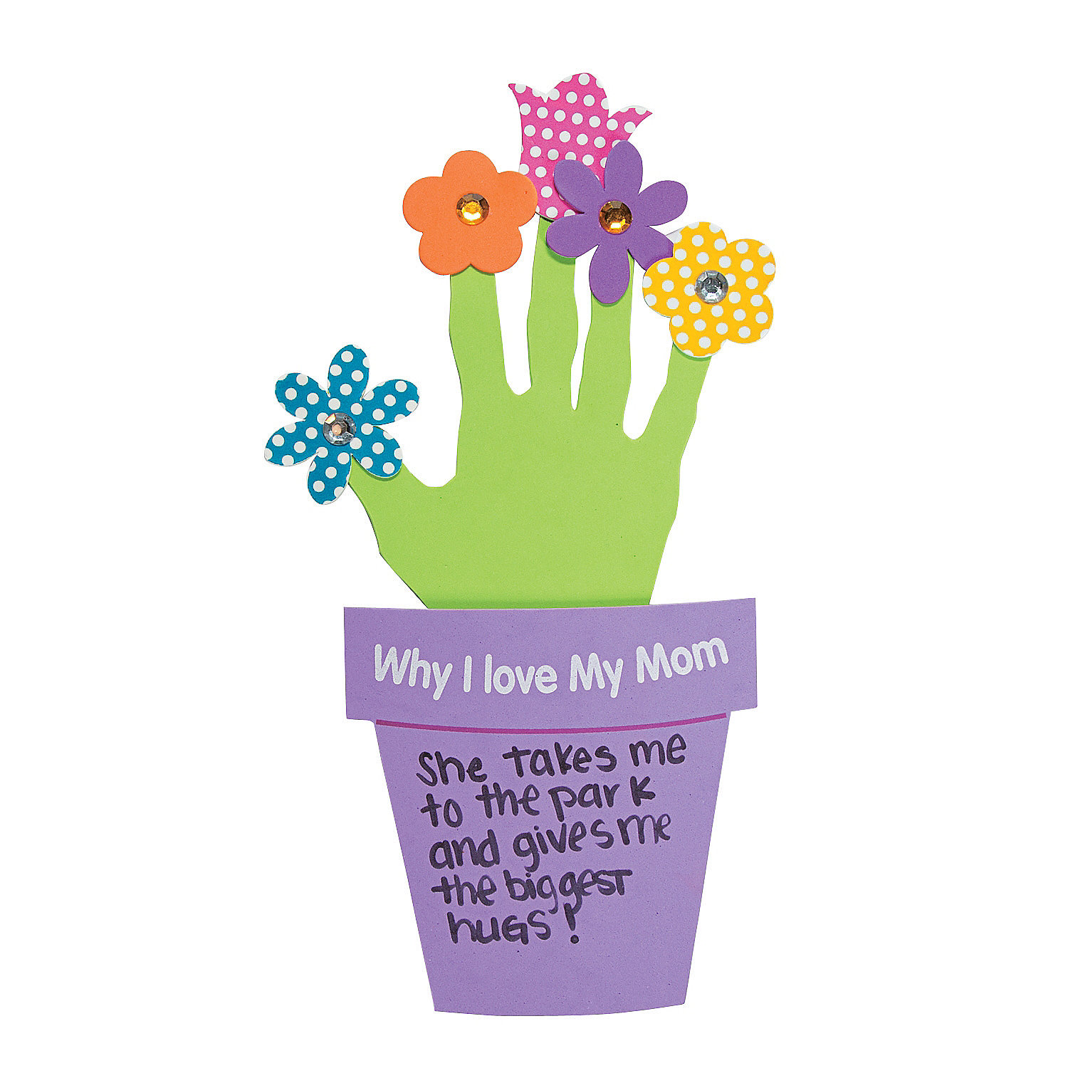 Why i love my mother handprint craft kit handprint for Mother s day craft kits