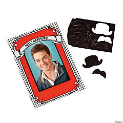 Mustache Magnetic Picture Frames
