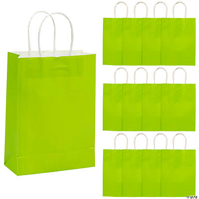 Lime Green Kraft Paper Gift Bags