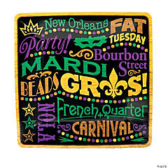 Party Gras Dinner Plates