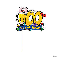 100th Day of School Stick Masks