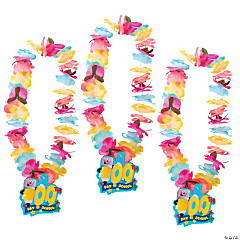 100th Day of School Flower Leis