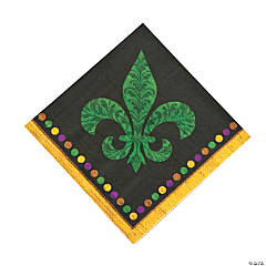 Paper Party Gras Luncheon Napkins