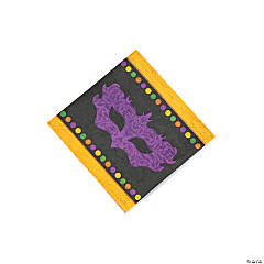 Paper Party Gras Beverage Napkins