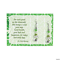 Irish Blessing Angel Earrings with Card Craft Kit