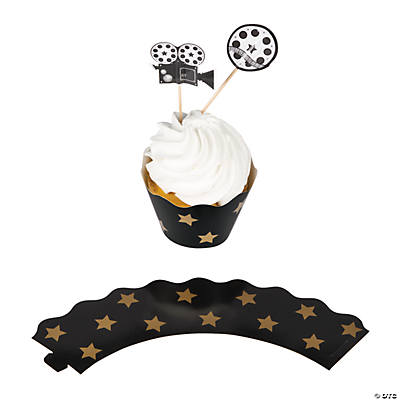Movie Night Cupcake Wrappers with Picks