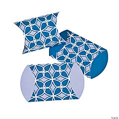 Purple & Blue Print Pillow Boxes