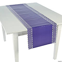 Purple Chevron Table Runner