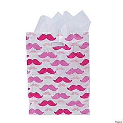 Pink Mustache Bags