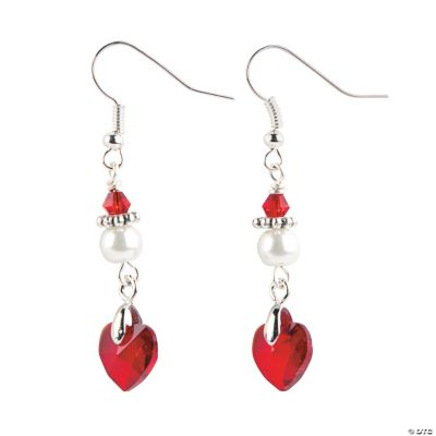 Crystal Heart Pendant Earrings Craft Kit