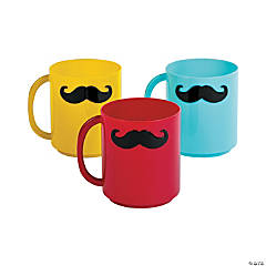 1st Birthday Lil' Man Mustache Mugs